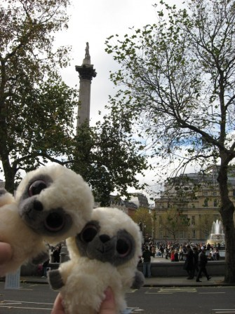 Doonkey and Woonkey trafalgar square